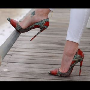 Snake Skin So Kate heels